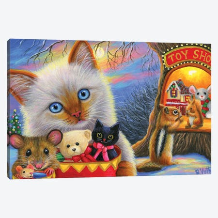 Holiday Shopping II Canvas Print #BVT161} by Bridget Voth Canvas Print