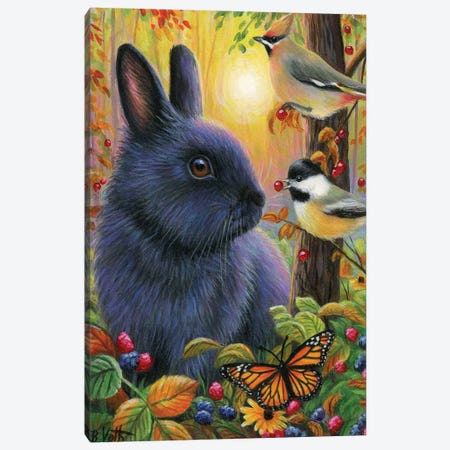 Little Autumn Bunny Canvas Print #BVT187} by Bridget Voth Canvas Wall Art
