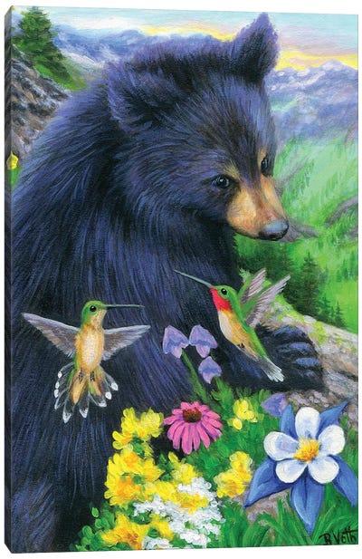 Little Bear's Humming Friends Canvas Art Print