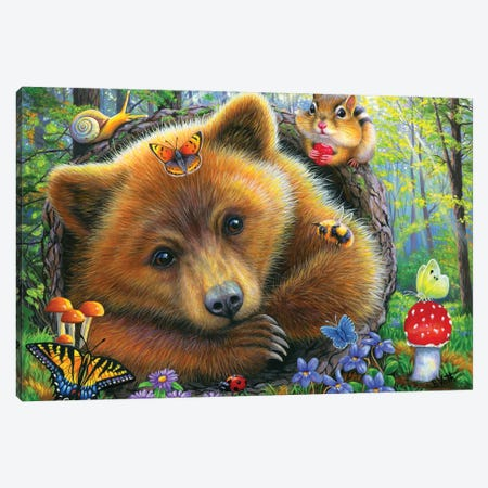 Little Bear's Morning Canvas Print #BVT189} by Bridget Voth Art Print