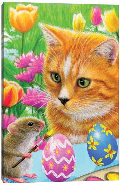 Little Easter Helper Canvas Art Print