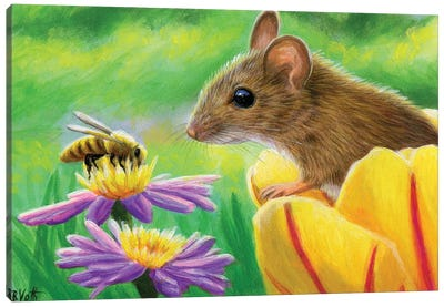 A Bee In The Garden Canvas Art Print