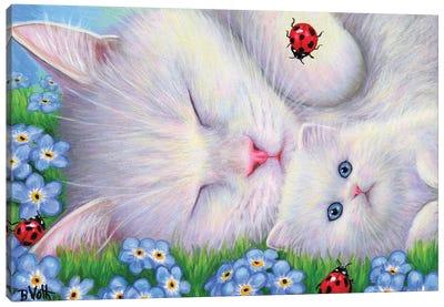 Love And Ladybugs Canvas Art Print