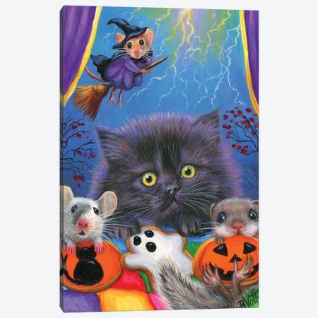 Midnight's Halloween Canvas Print #BVT213} by Bridget Voth Art Print