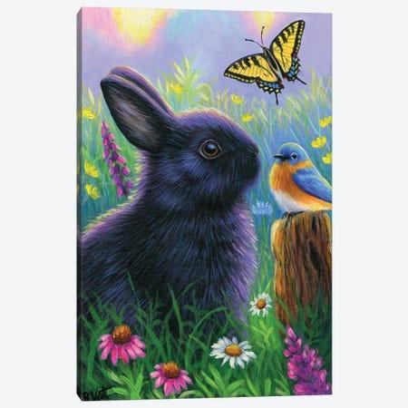 Morning In Bunny's Garden Canvas Print #BVT233} by Bridget Voth Canvas Print