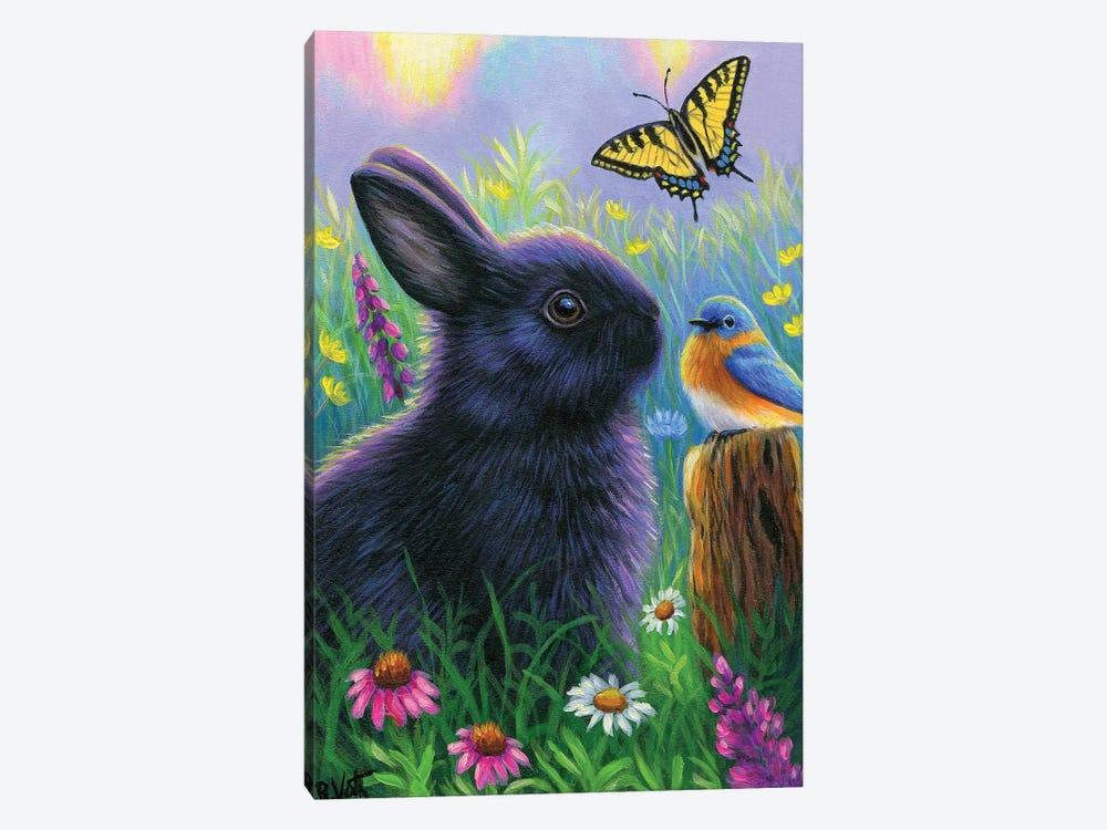 Morning In Bunny's Garden by Bridget Voth 1-piece Canvas Art Print