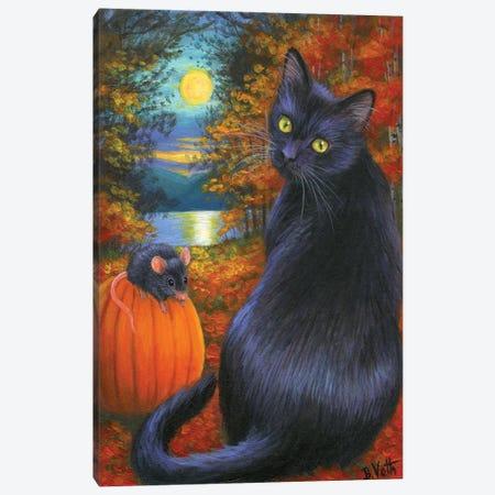 October Moon Canvas Print #BVT245} by Bridget Voth Canvas Art Print