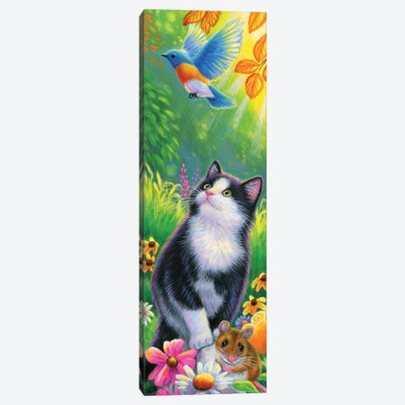 Oreo's Garden Canvas Print #BVT247} by Bridget Voth Canvas Print