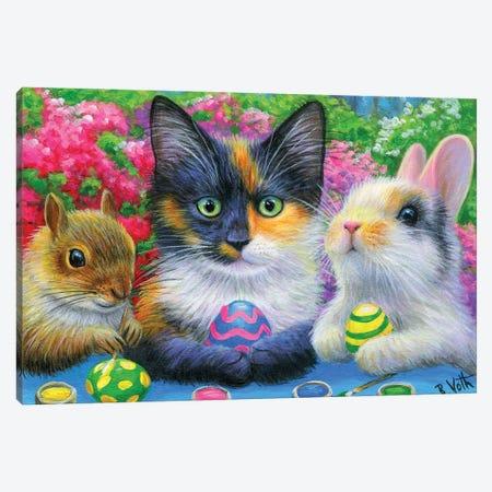 Painting The Eggs Canvas Print #BVT248} by Bridget Voth Canvas Art