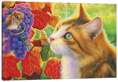 A Mouse In Viola's Vineyard Canvas Art Print