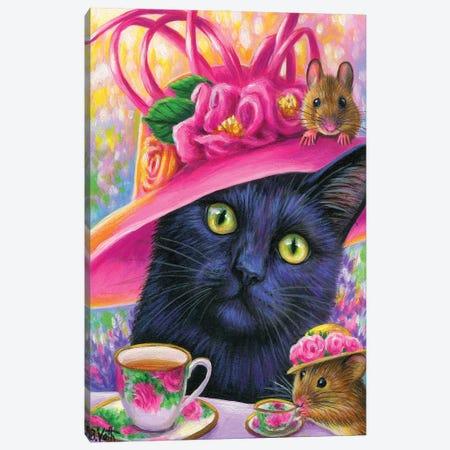 Tea With Bobby Tail Canvas Print #BVT295} by Bridget Voth Canvas Art