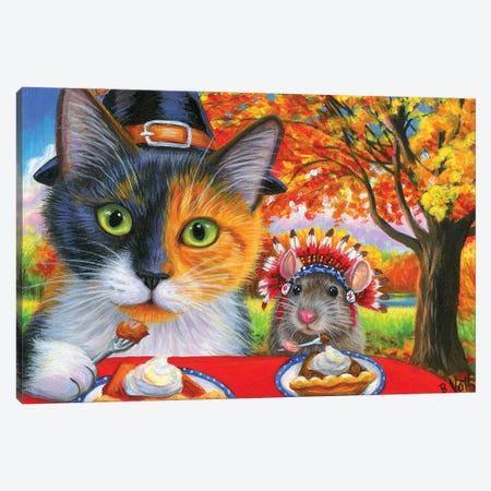Thanksgiving Canvas Print #BVT299} by Bridget Voth Canvas Art Print