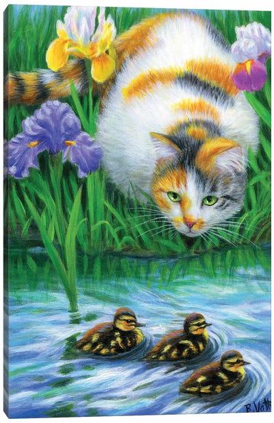 The Ducklings Canvas Art Print