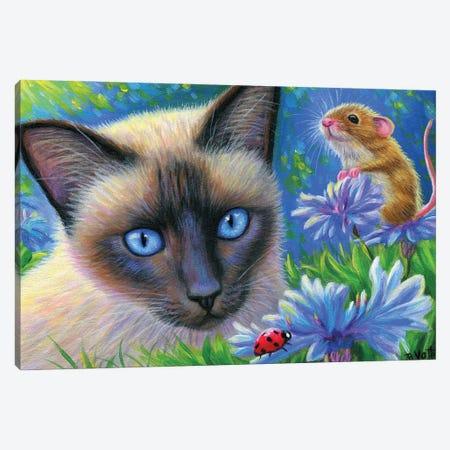 The Ladybug Canvas Print #BVT311} by Bridget Voth Canvas Artwork