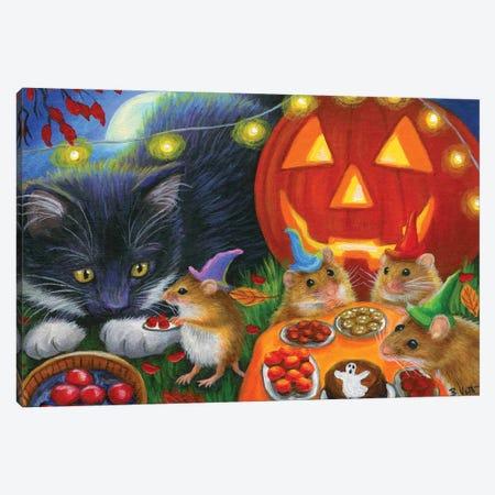 Whisker's Halloween Canvas Print #BVT341} by Bridget Voth Art Print