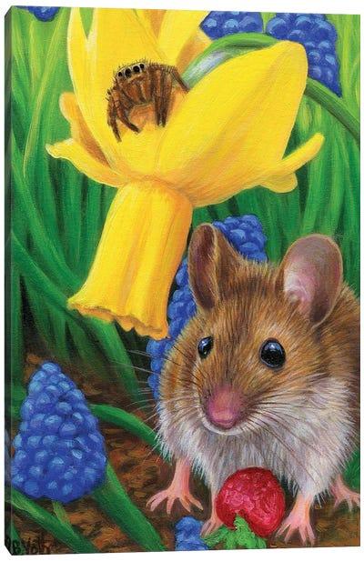 A Treat In The Garden Canvas Art Print