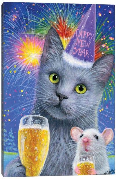 Agatha Misty's New Years Eve VII Canvas Art Print