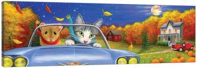 An Autumn Drivesfa Canvas Art Print