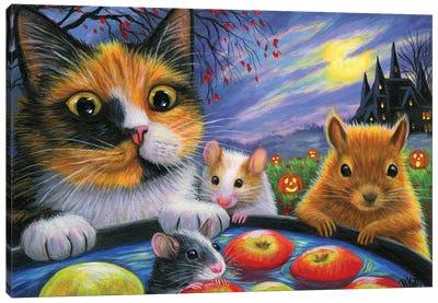 Apple Bobbing Time Canvas Art Print