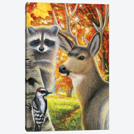 Autumn In The Woods Canvas Print #BVT58} by Bridget Voth Canvas Print