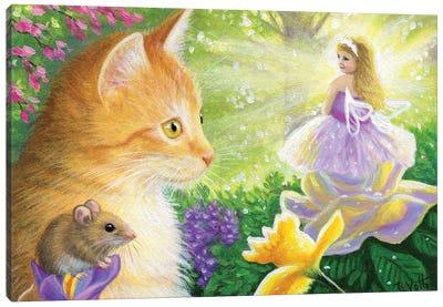 A Fairy In Gingers Garden Canvas Art Print