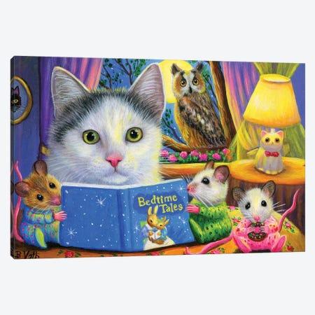 Bedtime Tales Canvas Print #BVT69} by Bridget Voth Canvas Artwork