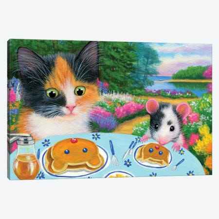 Breakfast In The Garden Canvas Print #BVT82} by Bridget Voth Canvas Art