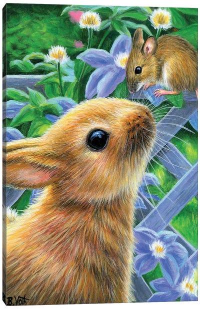 Bunny Kisses III Canvas Art Print