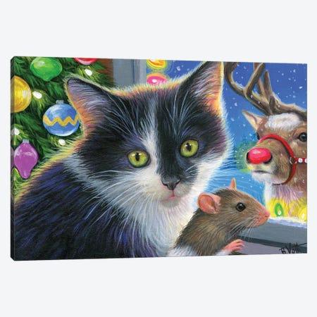 Christmas Surprise Canvas Print #BVT99} by Bridget Voth Art Print