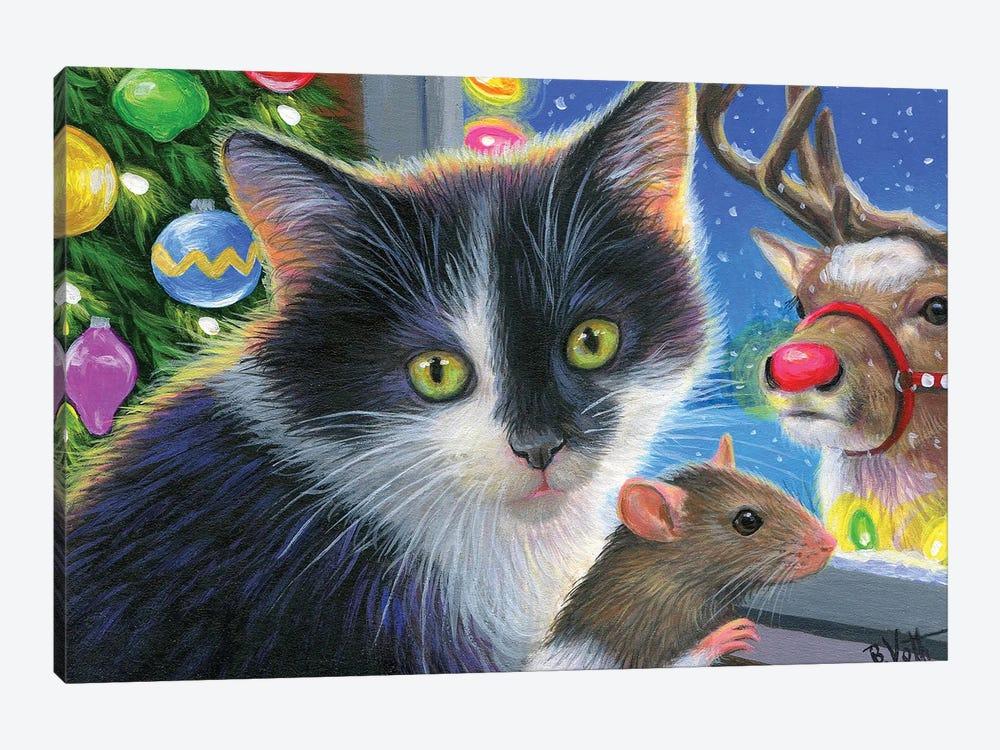 Christmas Surprise by Bridget Voth 1-piece Canvas Artwork