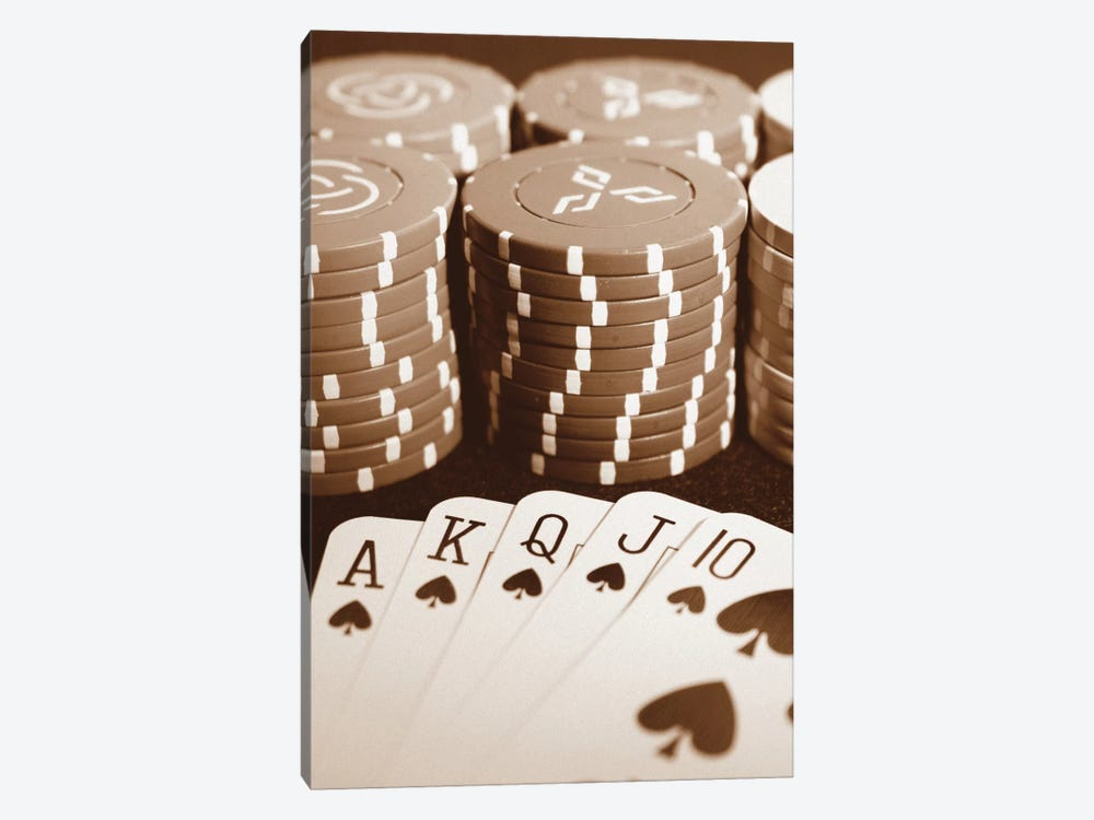 Poker 1-piece Canvas Print