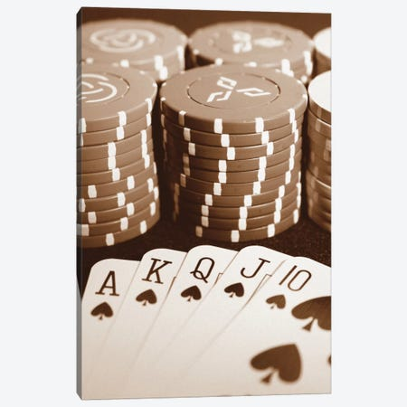 Poker Canvas Print #BWA28} by Boyce Watt Canvas Artwork