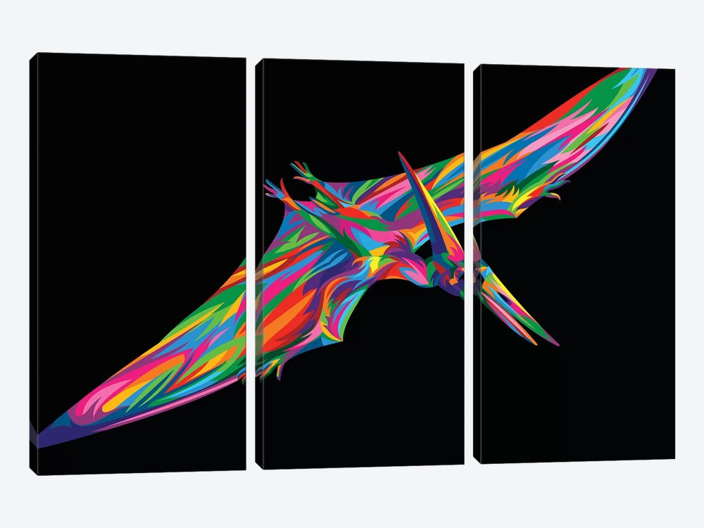 Pterodactyl by Bob Weer 3-piece Canvas Print