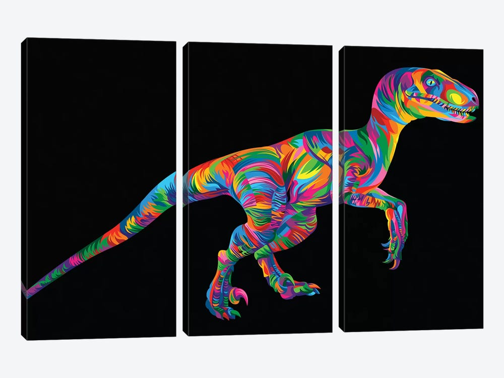 Raptor by Bob Weer 3-piece Canvas Art