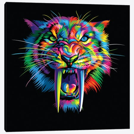 Sabretooth Canvas Print #BWE14} by Bob Weer Canvas Art