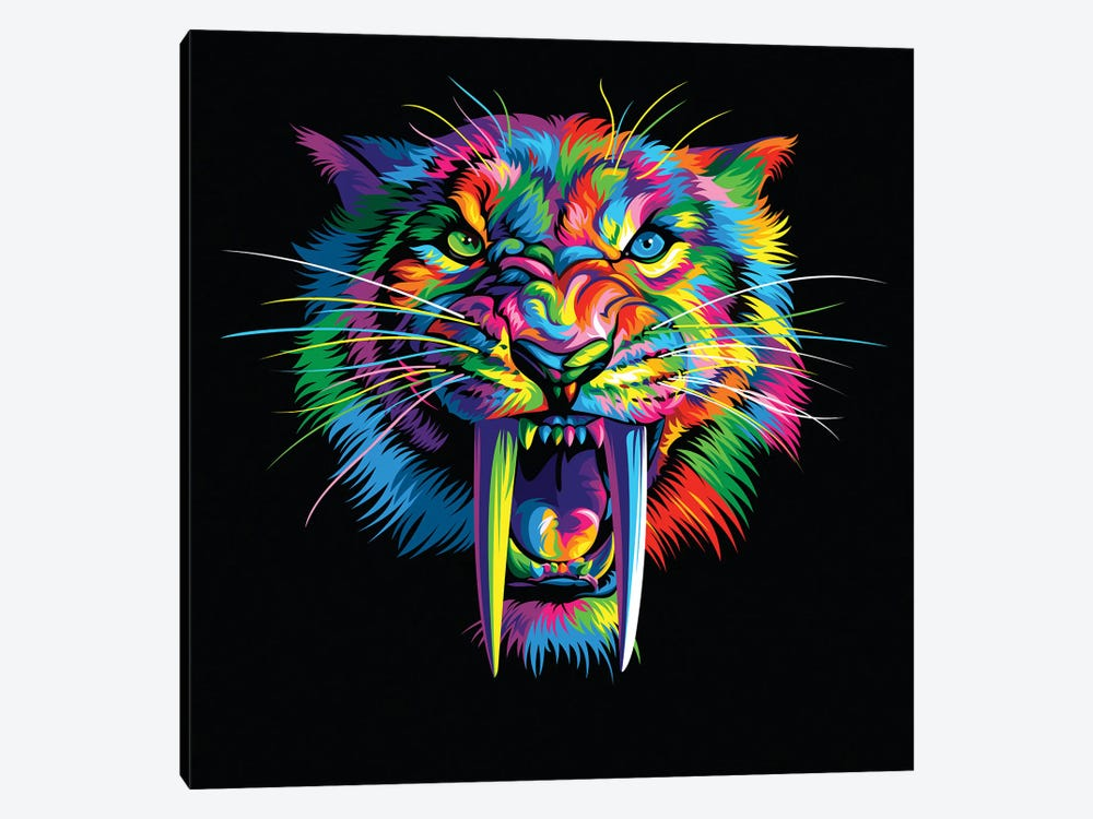 Sabretooth by Bob Weer 1-piece Canvas Art Print