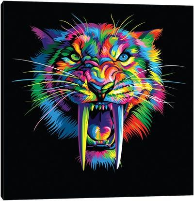 Sabretooth Canvas Art Print