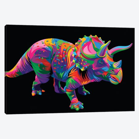 Triceratops Canvas Print #BWE18} by Bob Weer Canvas Art Print