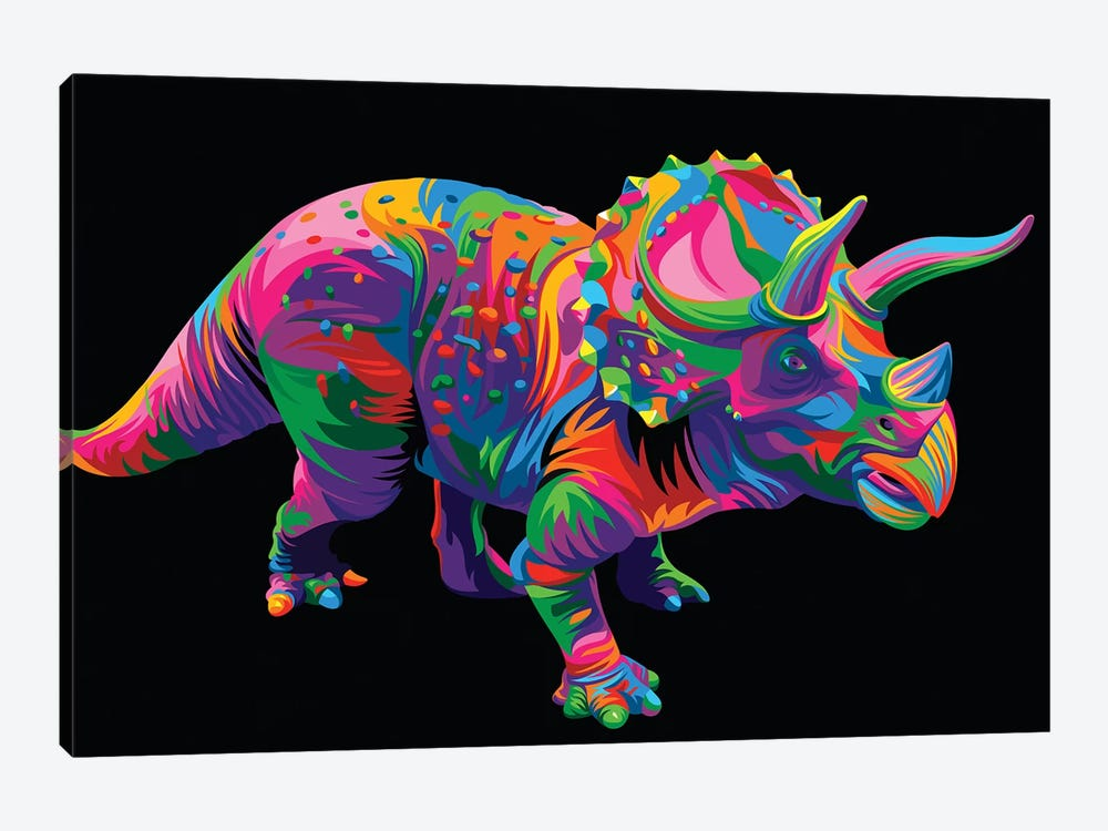 Triceratops by Bob Weer 1-piece Canvas Art Print