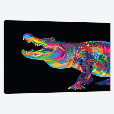 Alligator Canvas Print #BWE1} by Bob Weer Canvas Wall Art