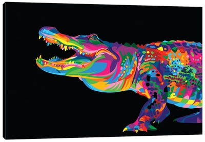 Alligator Canvas Art Print