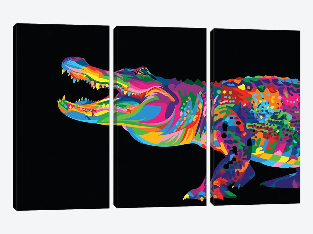 Alligator by Bob Weer 3-piece Art Print
