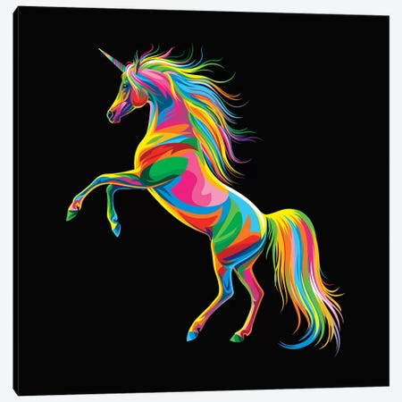 Unicorn Canvas Print #BWE20} by Bob Weer Canvas Wall Art