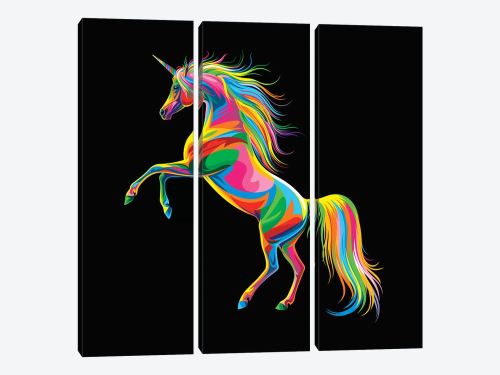 Unicorn by Bob Weer 3-piece Canvas Wall Art
