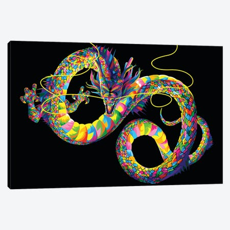Chinese Dragon Canvas Print #BWE3} by Bob Weer Canvas Artwork