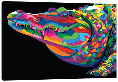 Crocodile Smile Canvas Art Print