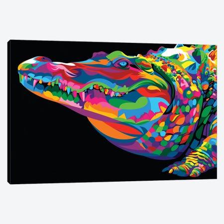 Crocodile Smile Canvas Print #BWE4} by Bob Weer Art Print