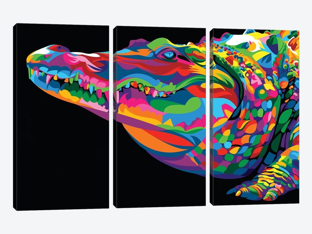 Crocodile Smile by Bob Weer 3-piece Canvas Art