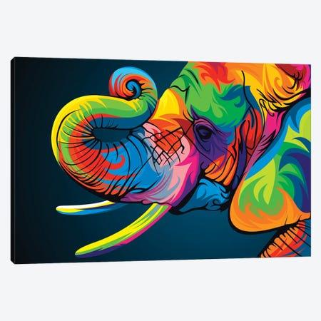 Elephant Canvas Print #BWE5} by Bob Weer Art Print