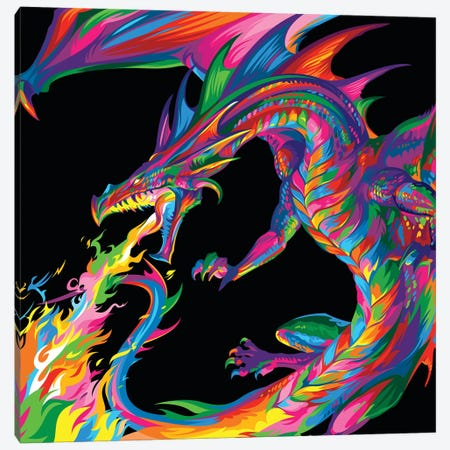 Fantasy Dragon Canvas Print #BWE6} by Bob Weer Canvas Art Print